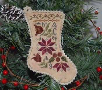 PT CS Abby Rose Designs Sampler Stocking Ornament