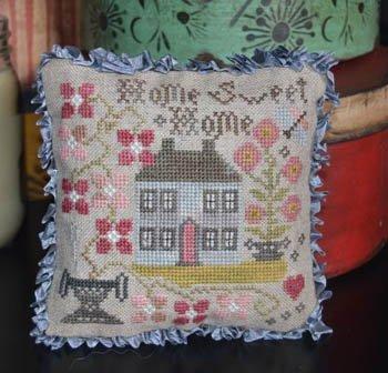 PT CS Abbey Rose Designs Home Sweet Home Pin Pillow
