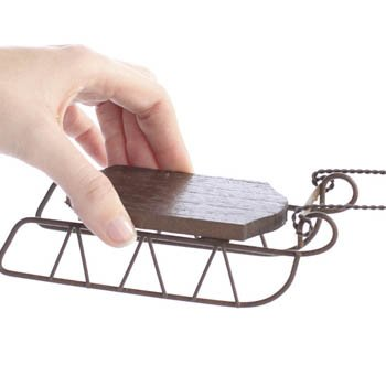 6 Wooden Sled Ornament