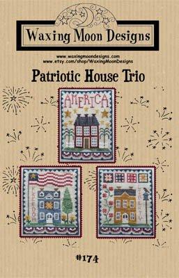 PT CS Waxing Moon Designs Patriotic House Trio