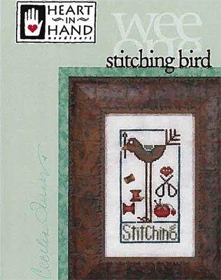 PT CS Heart in Hand Wee One Stitching Bird w/Button