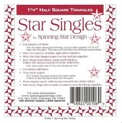 Star Singles 1 1/4 Half Square Triangles