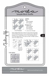 moda Sampler Shuffle block 20