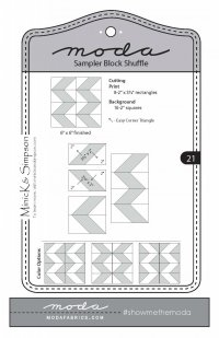 Moda Shuffle Block 21