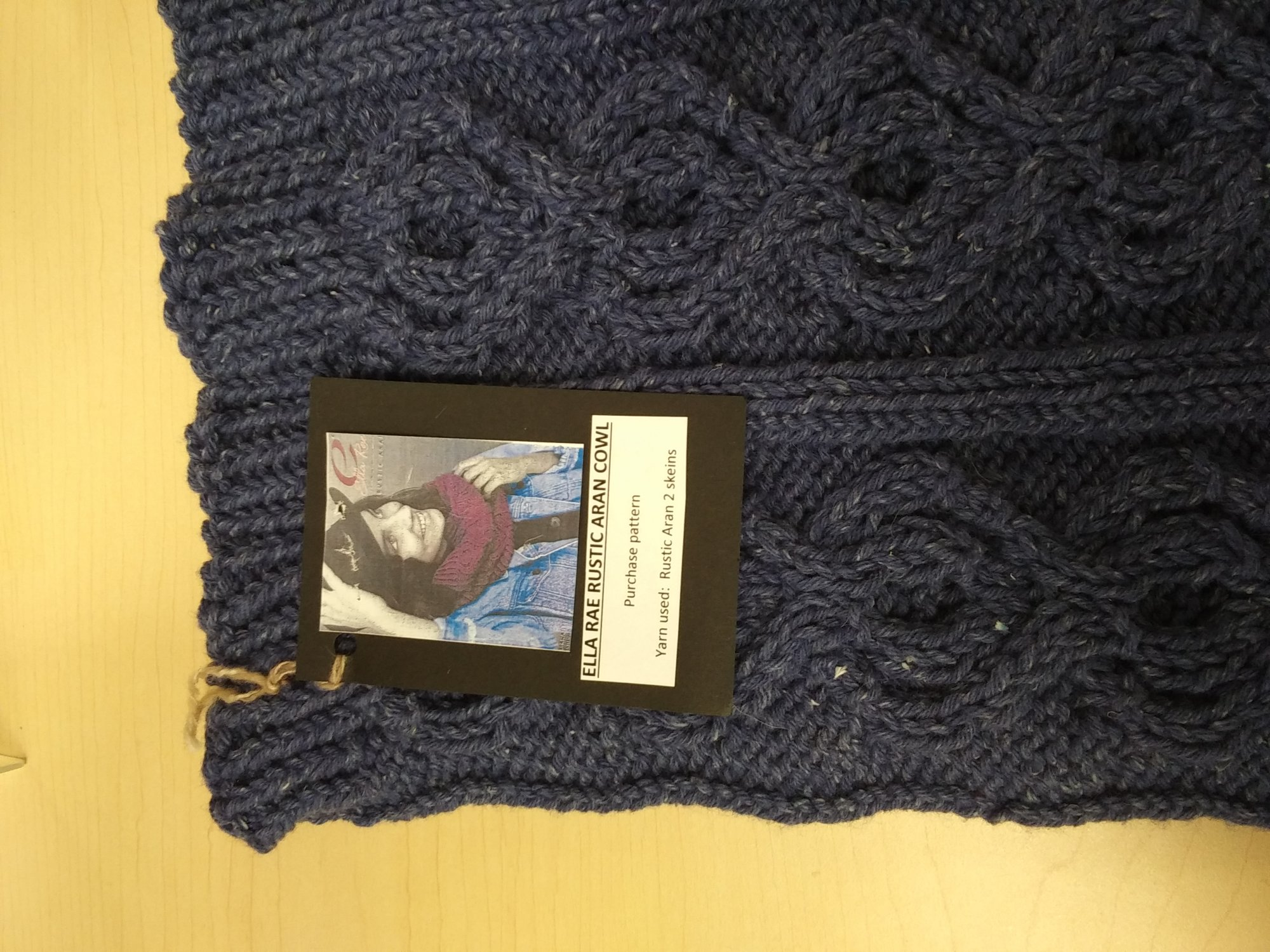 Sample - KN Rustic Aran Cowl - CO 5/14/19
