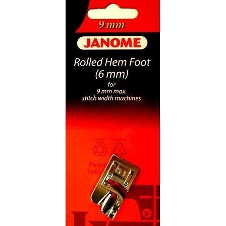 Foot Janome Rolled Hem 6mm) For 9mm Max Stitch Width Machines BP