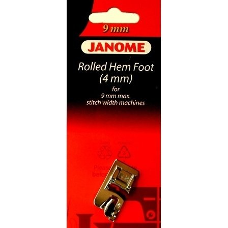 Foot Janome Rolled Hem 4mm for for 9mm Max Stitch Width Machines BP
