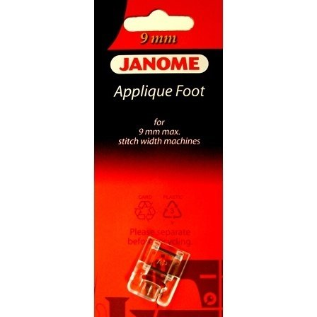 Foot Janome Applique for 9mm max. Stitch Width Machines BP