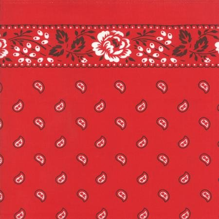 Toweling - Moda Red Bandana