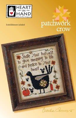 PT CS Heart in Hand Patchwork Crow