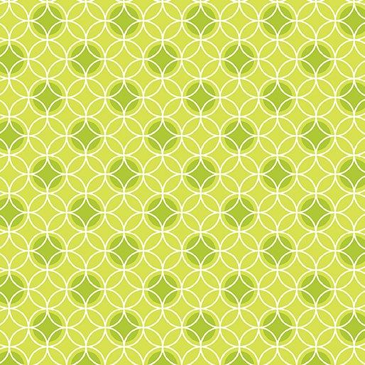 Benartex Bree Dot Circle Green