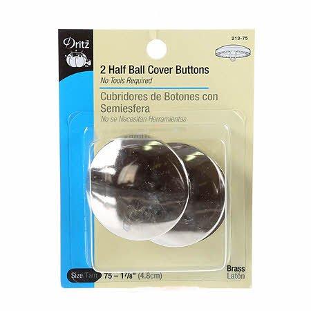 Dritz 2 Half Ball Cover Buttons Size 75