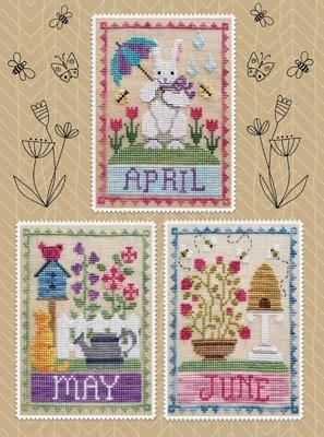 PT CS Waxing Moon Designs Monthly Trios - April, May, June