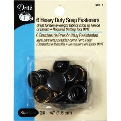 Black Snap Fasteners Size 24