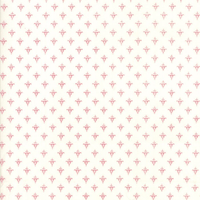 Moda Cottontail Cottage White/Red