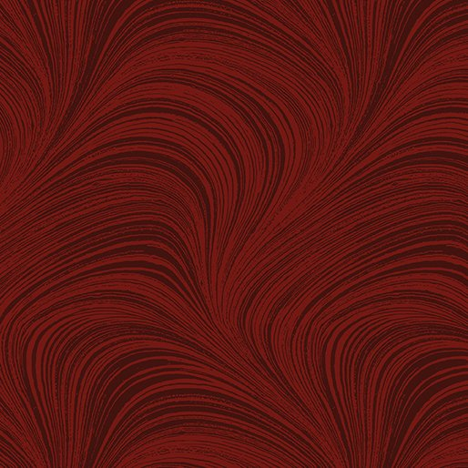 Benartex 108 Wave Texture Drk. Red