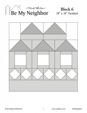 Moda Be My Neighbor Block 6