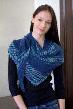 PT KN Plymouth Yarn Reserve Fingering Shawl