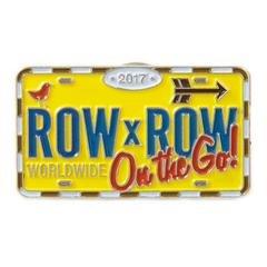 2017 Row by Row Souvenir License Plate Pin
