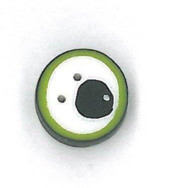 Button - JAB Eye Green Googly Tiny