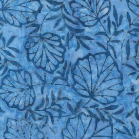 Anthology Fashion Rayon Outline Leaves Cobalt