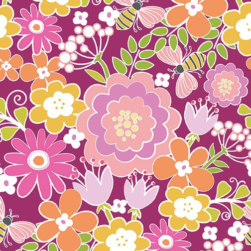 Benartex Front Porch Summer Floral Pink