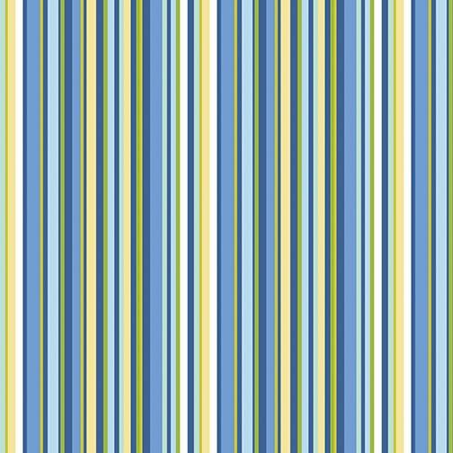 Benartex Front Porch Summer Stripe Blue/Green