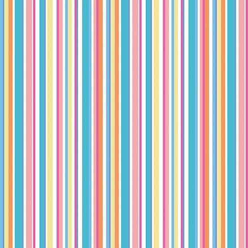Benartex Front Porch Summer Stripe Pink/Turq