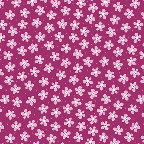 Benartex Front Porch Mini Floral Fushia