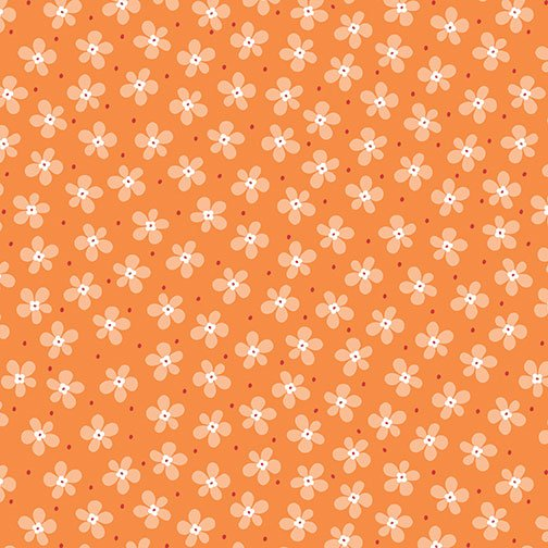Benartex Front Porch Mini Floral Orange