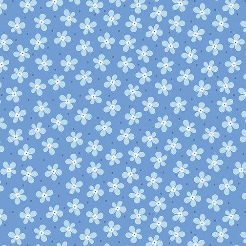 Benartex Front Porch Mini Floral Medium Blue