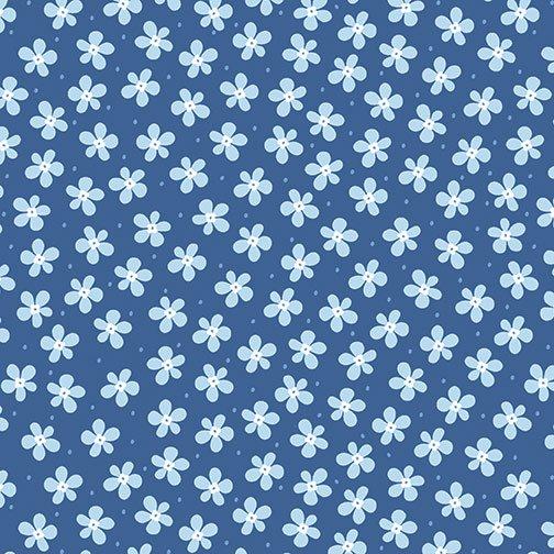 Benartex Front Porch Mini Floral Blue