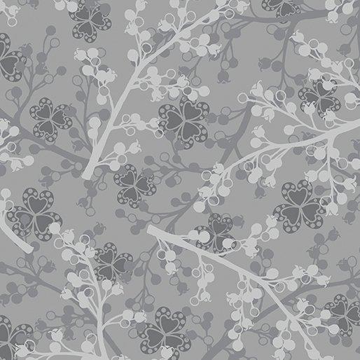Benartex Jubilee Silver Herringbone Silver/Black