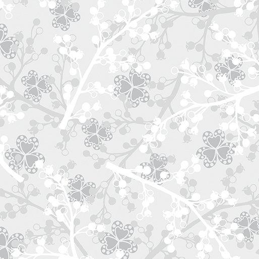Benartex Jubilee Silver Berries Light Gray