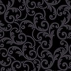 Benartex 108 Wide Back Leaf Scroll Black