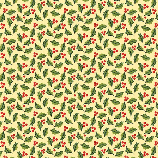 Benartex Quilters Christmas Jolly Holly Butter