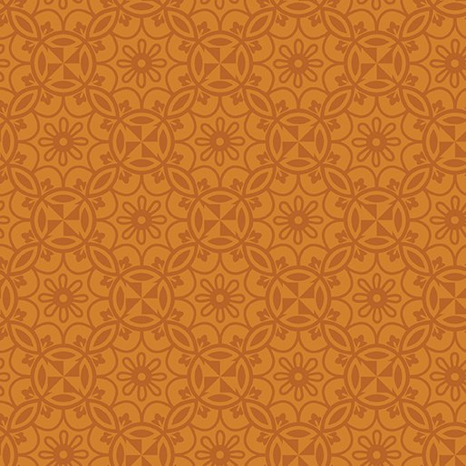 Benartex Home Grown Medallion Orange