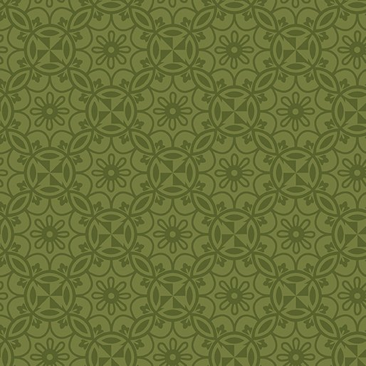 Benartex Home Grown Medallion Green