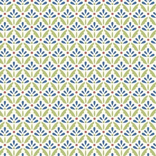 Benartex Home Grown Floret Cream/Blue