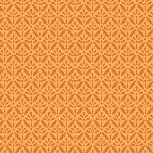 Benartex Home Grown Floret  Orange
