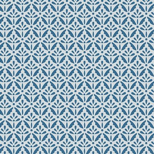 Benartex Home Grown Floret  Blue