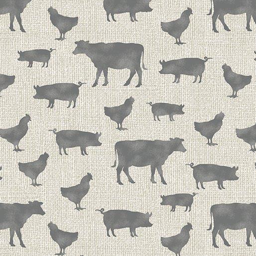 Contempo Farm Sweet Farm Farm Animals Tan/Grey