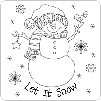 Let It Snow pattern