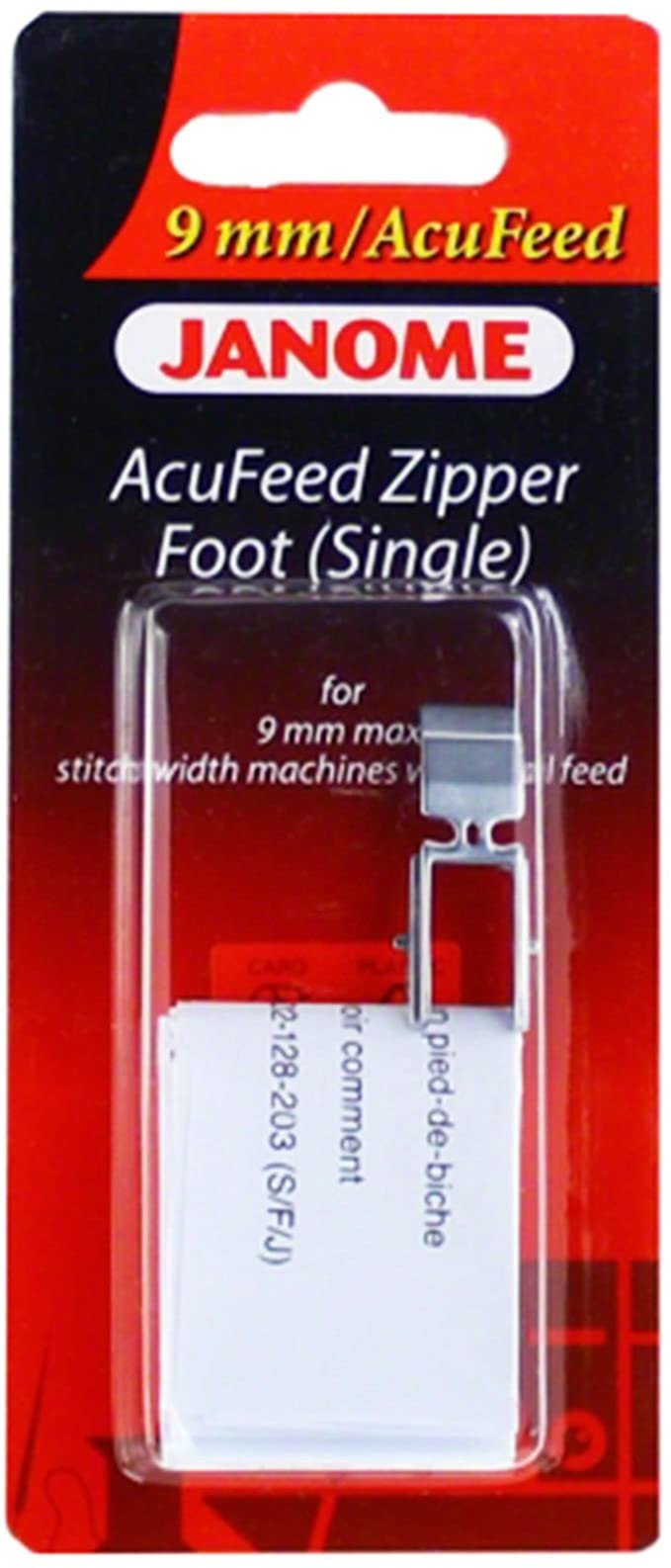 Foot Janome Accufeed Zipper (Single) BP
