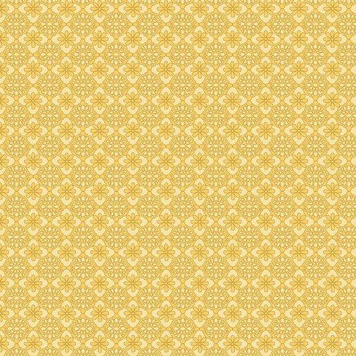 Benartex My Secret Garden Lace Yellow