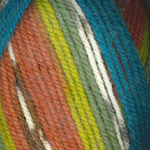 Plymouth Encore Colorspun Worsted Blu/Org/Grn Mix 8197