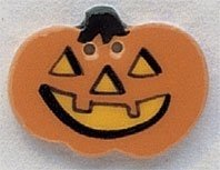 Mill Hill Ceramic Hand Painted Buttons Jack-O-Lantern
