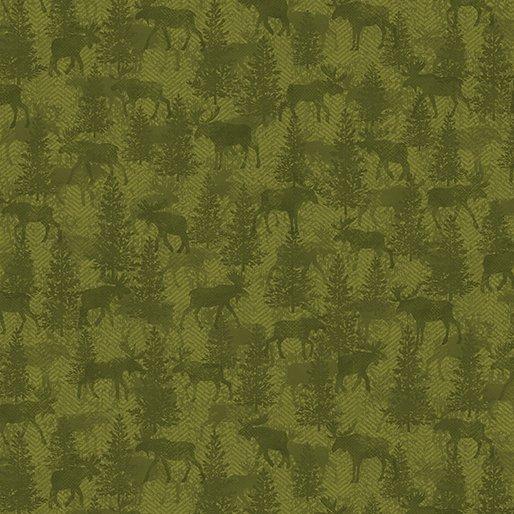 Benartex Moose Twill Crossing Green