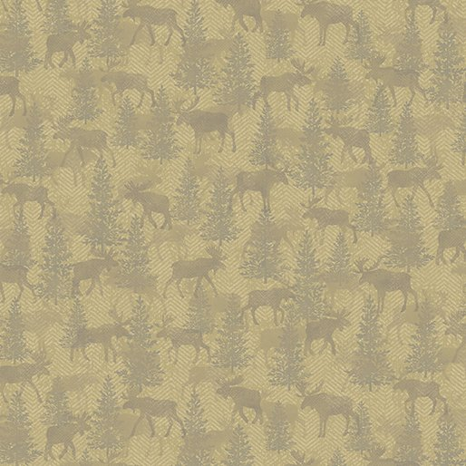 Benartex Moose Twill Crossing Beige
