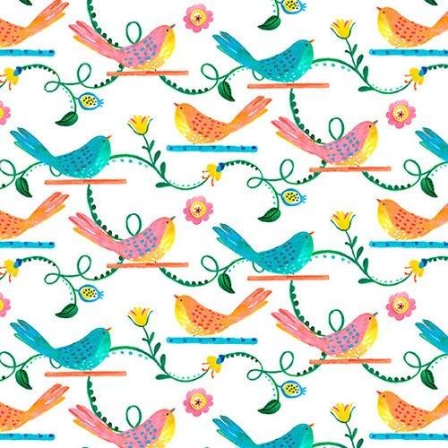 Blank Quilting Florabelle White Birds
